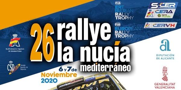 Lista de Inscritos, tramos y horarios del Rallye La Nucía 2020