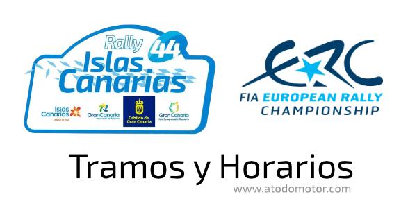 Tramos y Horarios del Rally Islas Canarias ERC 2020