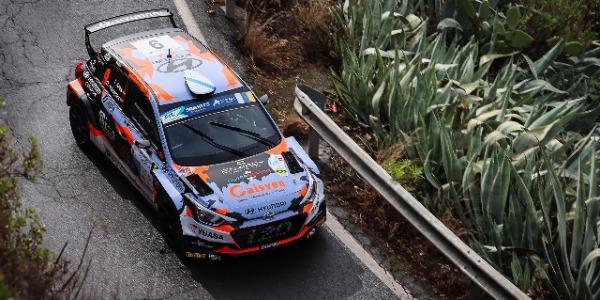 Iván Ares y David Vázquez. Foto: FIA ERC