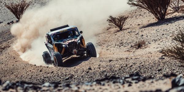 Gerard Farrés, feliz de acabar su tercer Dakar sobre cuatro ruedas