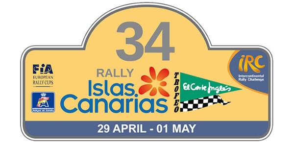 Placa del Rally Islas Canarias 2010 - IRC