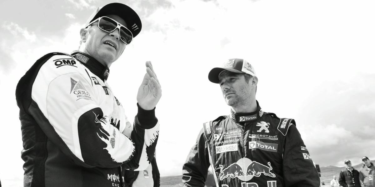 Sebastien Loeb con Petter Solberg