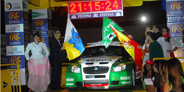 Salida del Rally Islas Canarias 2010