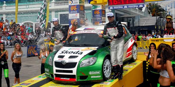 Jan Kopecky, vencedor del Rally Islas Canarias 2010 - IRC