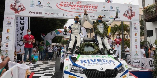 Miguel Á. Suárez gana un apasionante Rallye Senderos de La Palma