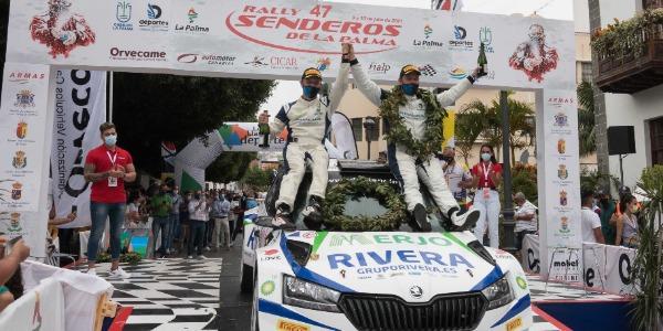 Miguel Suárez y Daniel Sosa se imponen en el Rally Senderos de La Palma