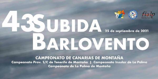 La 43 Subida a Barlovento se celebrará el 25 de septiembre