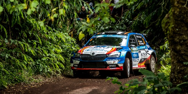 El Rally Team Spain, en plazas de honor en el Rally de Azores
