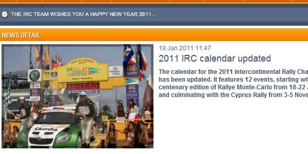 El IRC lo anuncia en su sitio web