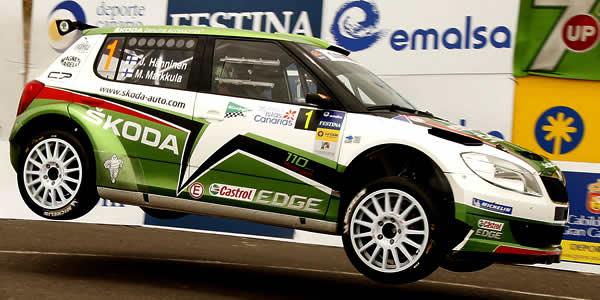 Juho Hanninen, ganador del Rally Islas Canarias