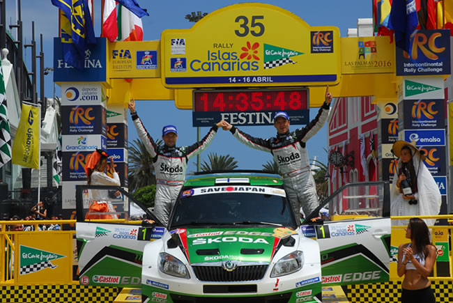 Juho Hanninen, vencedor del Rally Islas Canarias 2011