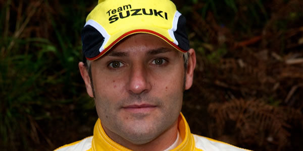 Santiago Cañizares como piloto de Suzuki