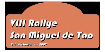 VIII Rallysprint San Miguel de Tao