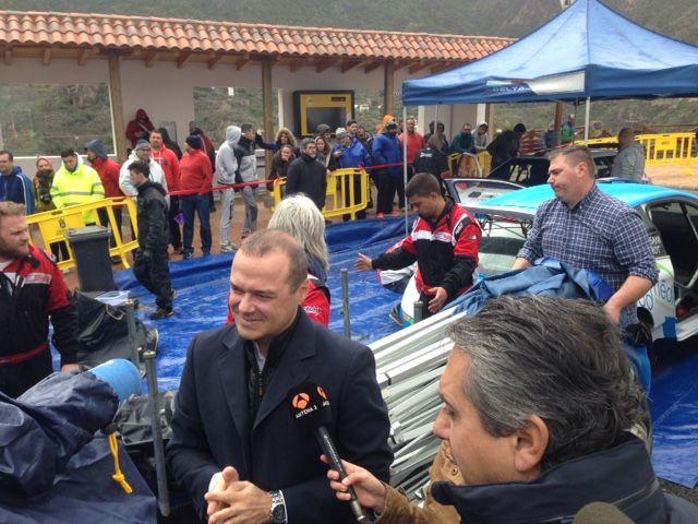 El alcalde con el rally
