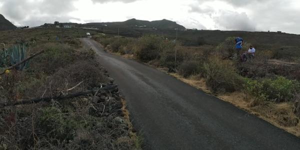 El asfalto de Gáldar se seca